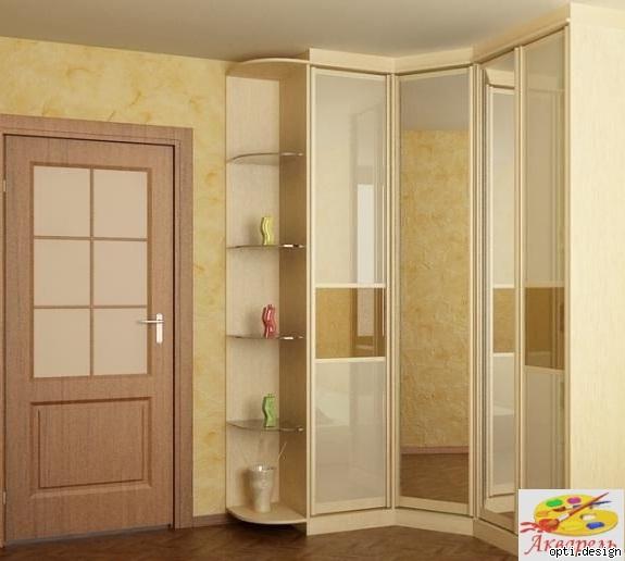 Встроенный угловой шкаф для спальни фото дизайн